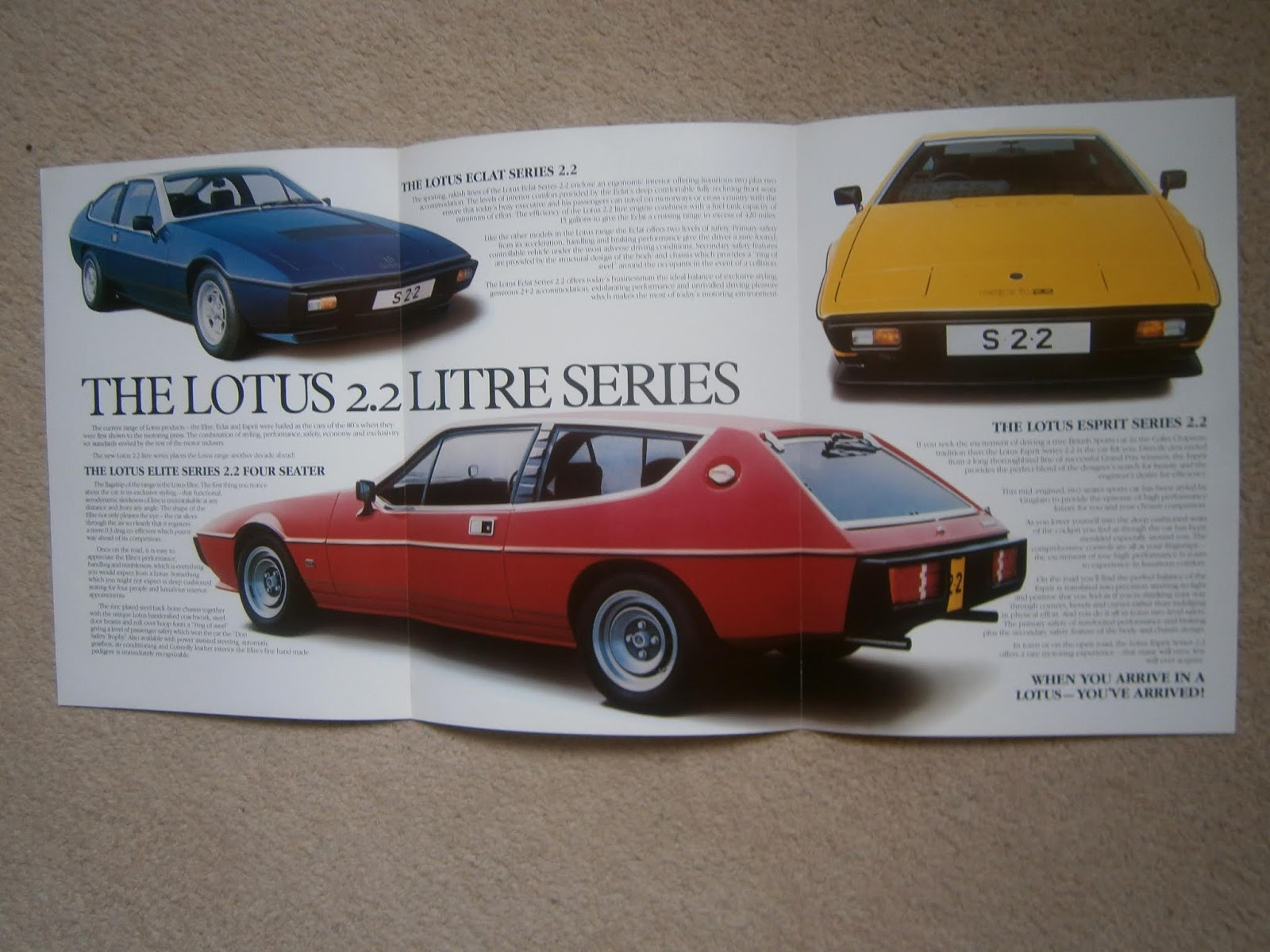 Responsible Lotus Esprit Post Card Brochure Sales Literature British Vehicle Parts & Accessories