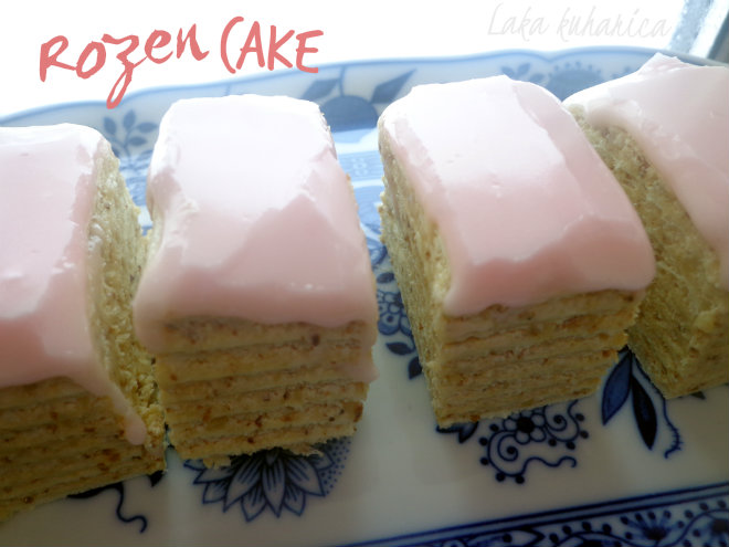 Rozen cake by Laka kuharica: celebrate the upcoming holidays with this wonderful and heavenly delicious cake.