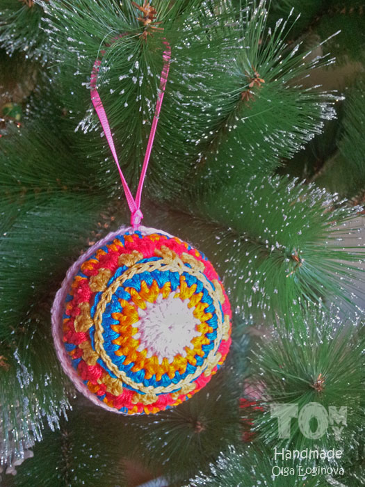 Crochet ball ornament