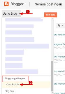 Blog yang dihapus