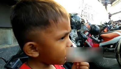 Rapi Ananda Pamungkan bocah perokok