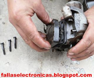 despiece de la parte mecanica de un compresor