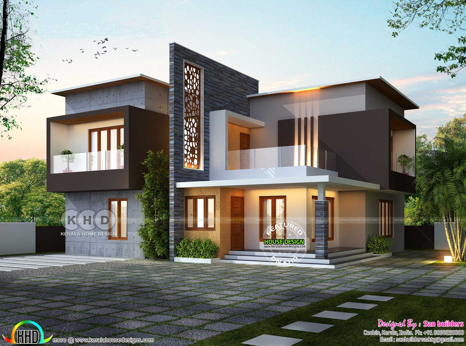 Awesome ultra modern contemporary house 2356 sq-ft ...