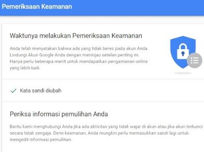 Password email gmail telah berhasil diganti