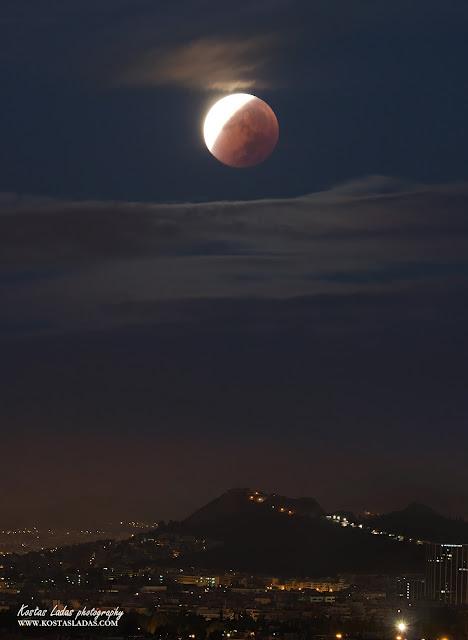 Φωτογραφια τοπιου,νυχτερινες φωτογραφιες,Φεγγαρι,full moon eclipse SEptember 2015