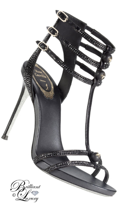 Brilliant Luxury ♦ Rene Caovilla evening sandals