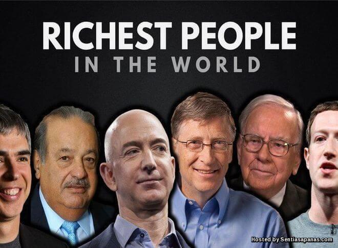 Berapa Pendapatan 15 Orang Terkaya Dunia Dalam Sehari?