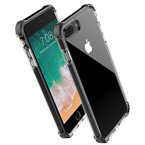 the latest e0dff 9a231 The best Noii for iPhone 8 Plus case iPhone 7 Plus case, Clear Hybrid Drop  Protection case,[TPE ...