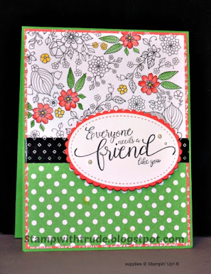 April Club Card, Stampin' Up!, Stamp with Trude, Suite Sentiments