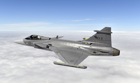 2nd Test Flight Gripen   Credit: Stefan Kalm