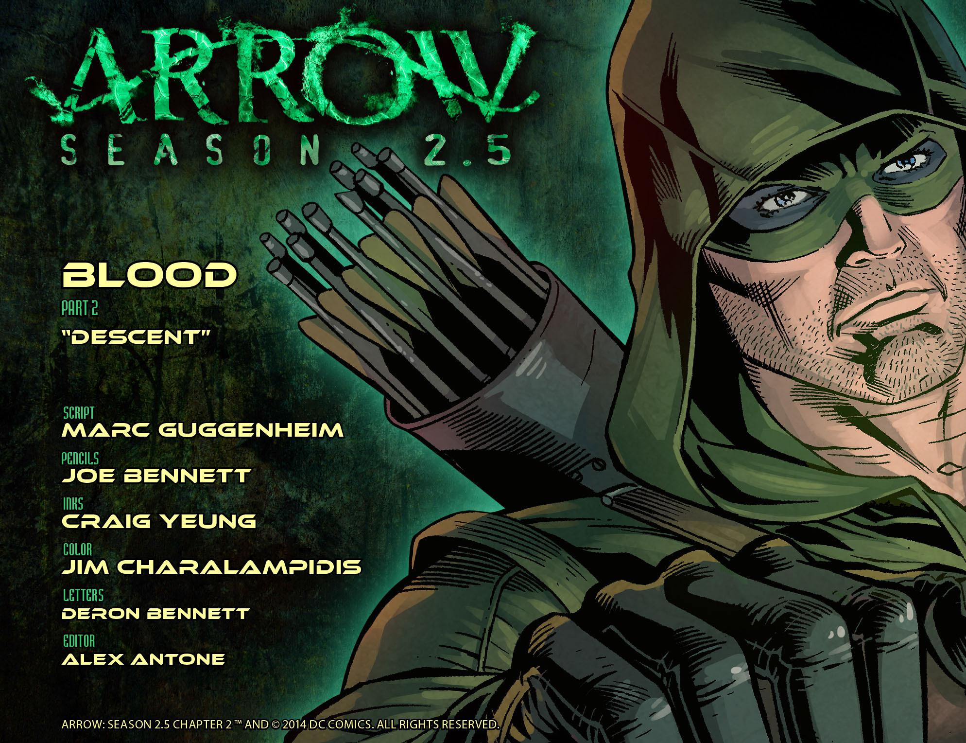 Read online Arrow: Season 2.5 [I] comic -  Issue #2 - 2