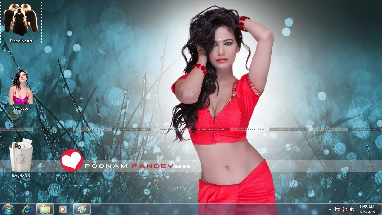 Hot n Sizzling Poonam Pandey theme for Windows 7 / 8 / 8.1 / 10