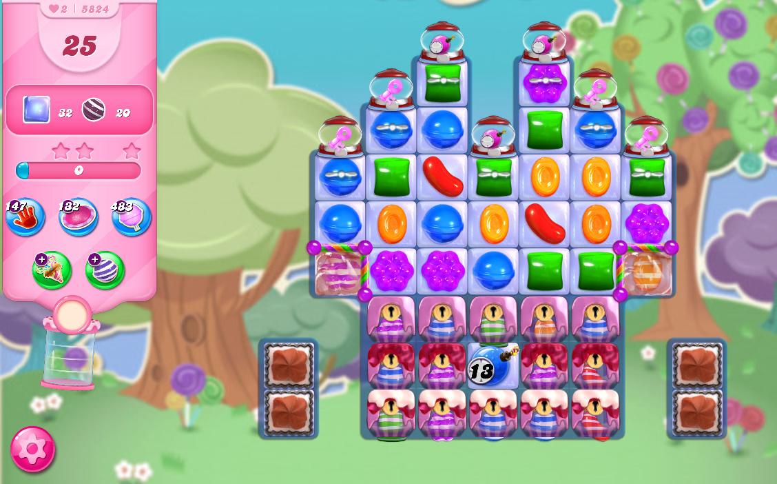 Candy Crush Saga level 5824