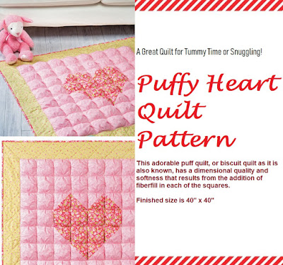 Learn How to Make a Puffy Heart Quilt for Baby