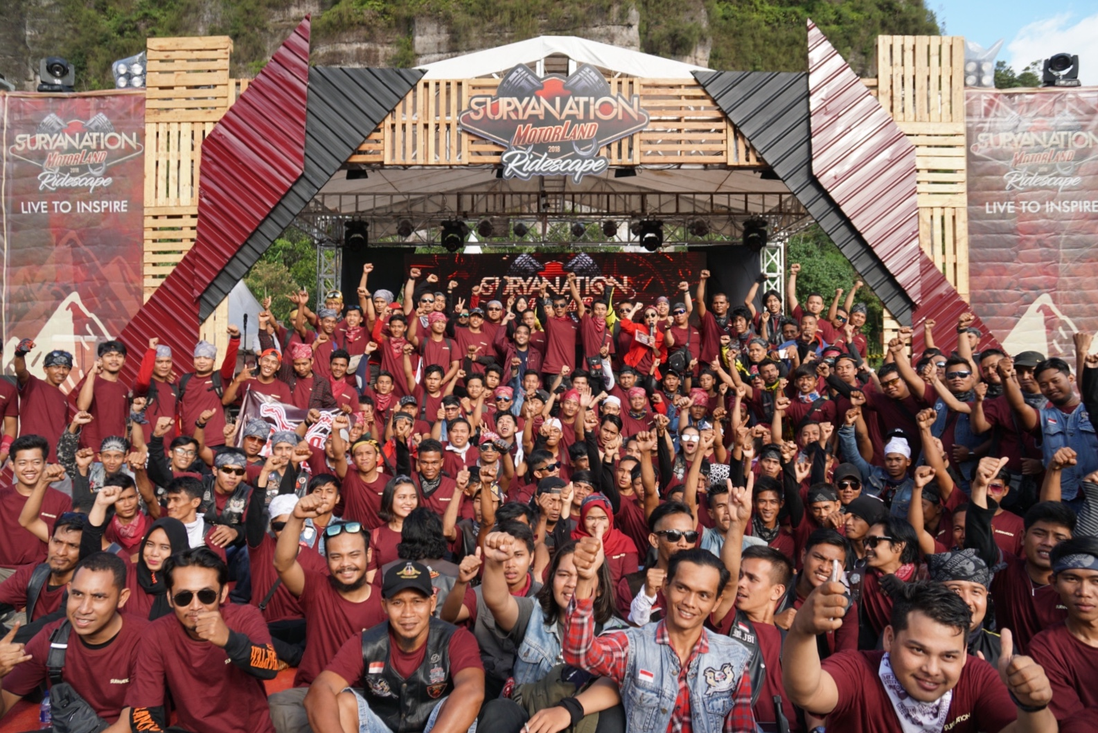Sambut Kemerdekaan, Ribuan Bikers Padati Lembah Harau Kota Padang