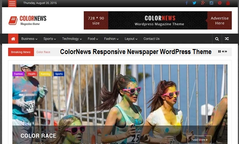 ColorNews Responsive Newspaper WordPress Theme
