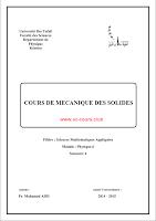 Livre : Mécanique des solides ( cours & exercice ) pdf - SMP S3