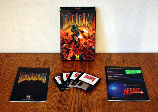 DOOM 1993 box and content