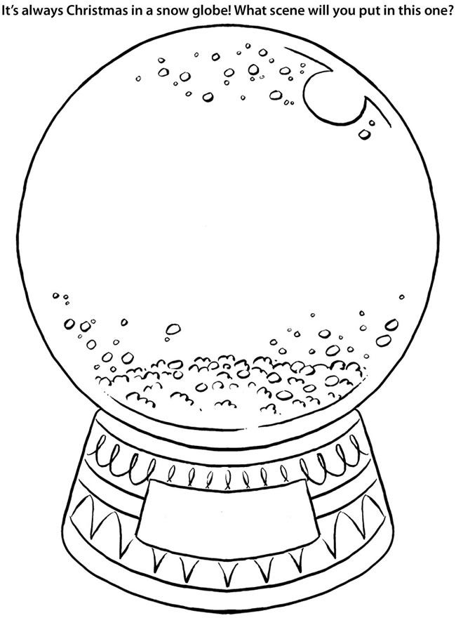 snow globes coloring pages - photo#7