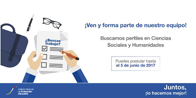 Oferta laboral INEVAL MAESTROS Ecuador mayo junio  2017 Convocatoria