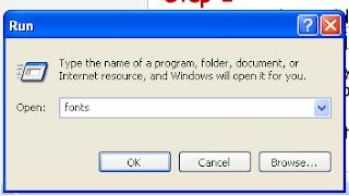 Run Fonts install