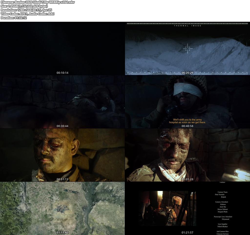 Bunker 2020 Hindi 720p WEBRip x264 | 480p 300MB | 100MB HEVC Screenshot