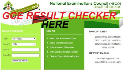 NECO GCE Result Checker 2018/2019 | How to Check Your Result Online