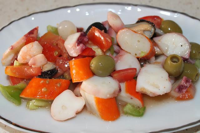 Salpicón de marisco. Julia y sus recetas