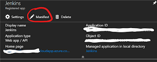 Editing Azure AD Service Account Manifest