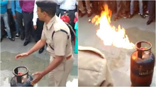 how to control gas cylinder fire Training in hindi
