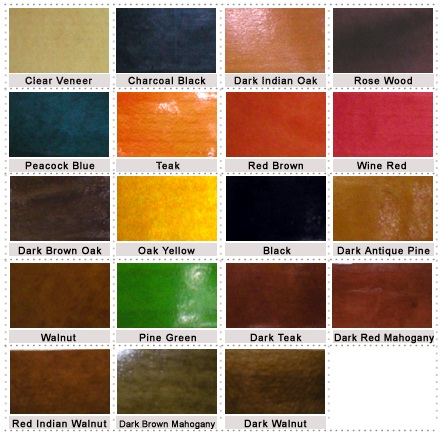 Colour Options In Wood Stains