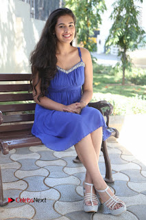 Actress Prasanna Stills in Blue Short Dress at Inkenti Nuvve Cheppu Movie Platinum Disc Function  0166.JPG