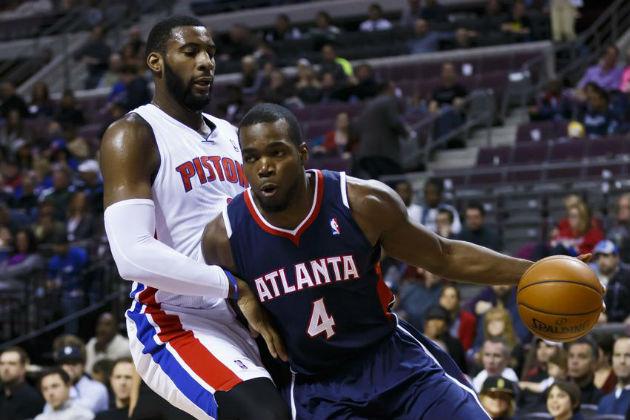 Andre Drummond (pivot des Detroit Pistons) vs Paul Millsap (ailier fort des Atlanta Hawks)