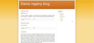 blogregény demo első nézet
