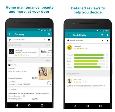 Google Areo app for Food Delivery with Home Services in India