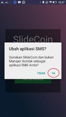 Cara Mengatur Aplikasi SLide coin