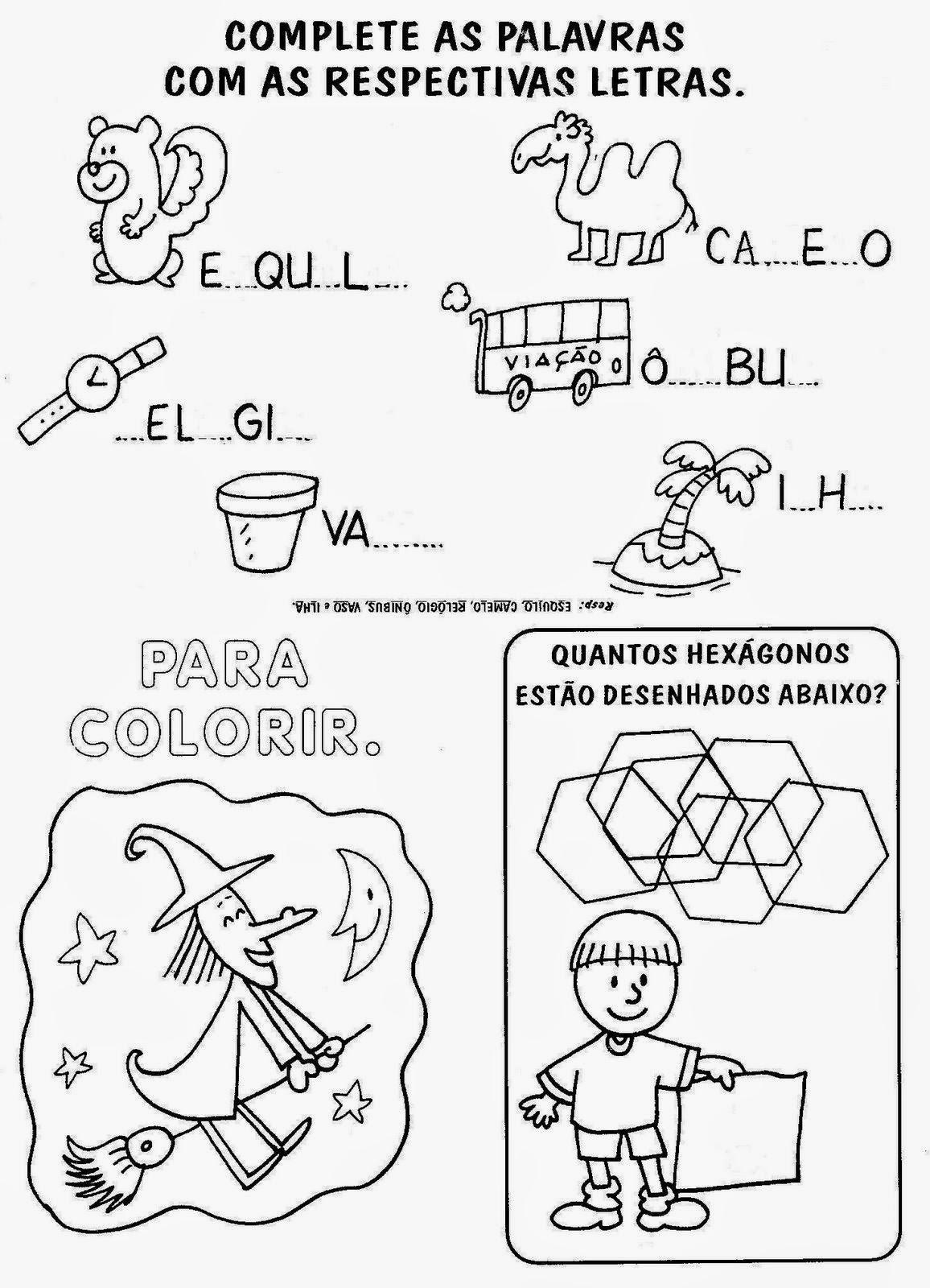imagens para colorir e imprimir para a alfabetiza o