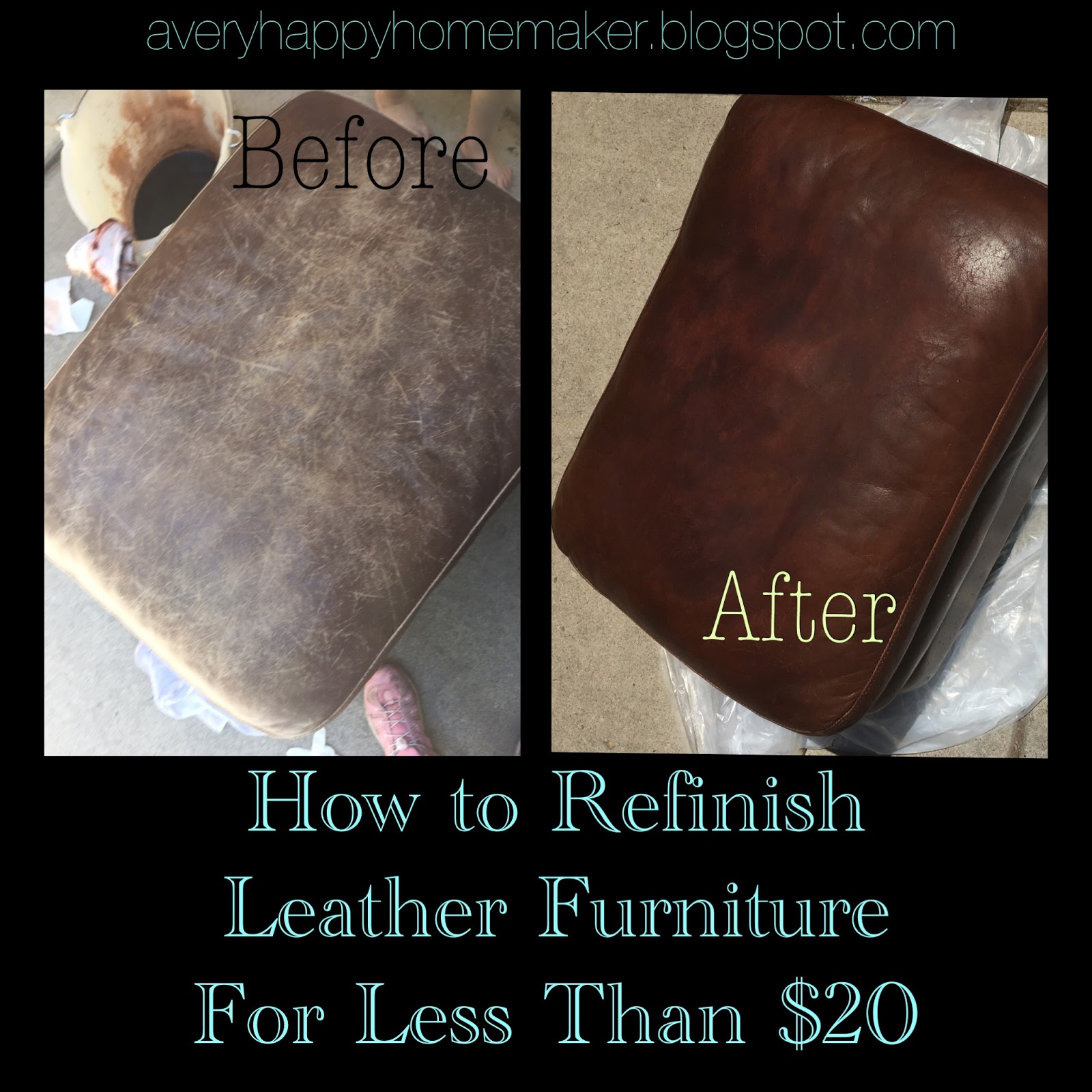 A Very Happy Homemaker Refinish Leather Furniture For