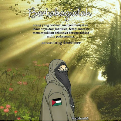 animasi muslimah bercadar