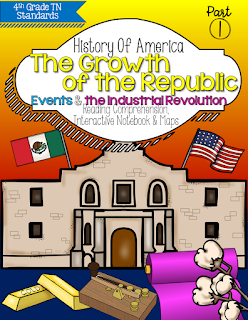 Growth of the Republic: Events & Industrial Revolution