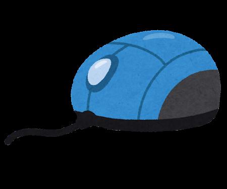 コード付きマウスのイラスト