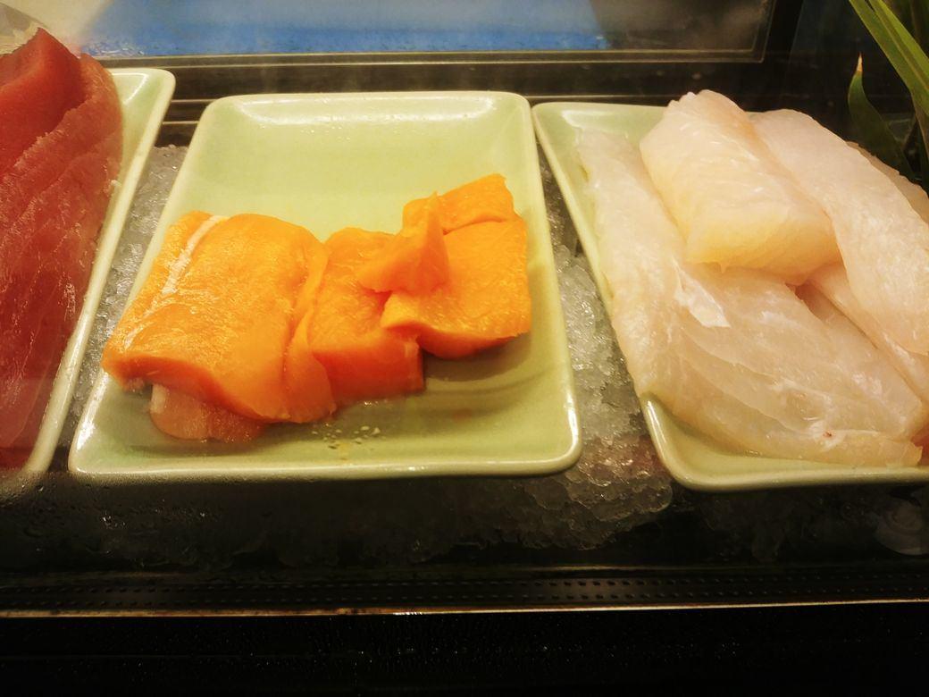 Fresh sashimi at the Japanese station of The Grand Kitchen