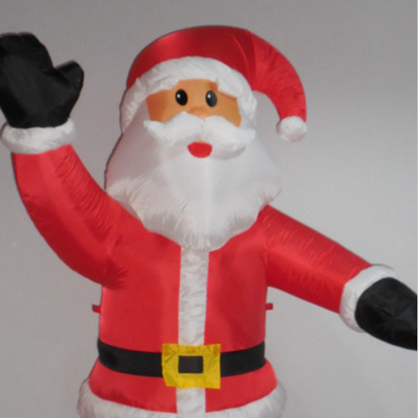 Waving Blow Up Santa Claus Christmas Inflatable $18 - OKC Craigslist Garage Sale