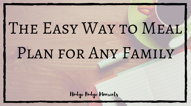 The Easy Way to Meal Plan for Any Family