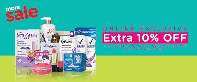 Watsons Malaysia Online Store Exclusive Extra 10% Discount Promo