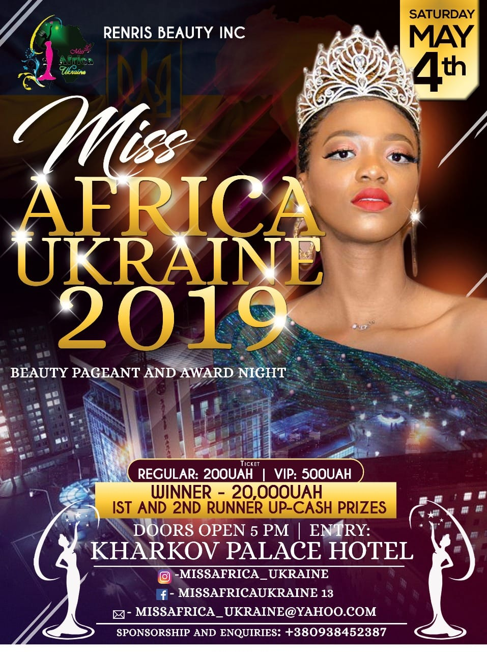 Miss Africa Ukraine 2019 : Beauty Pageant : Vote list