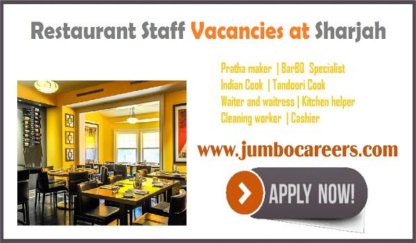 Recent UAE jobs with salary, available Dubai Restaurant jobs July 2018,