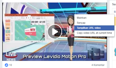 copy url video dari fb