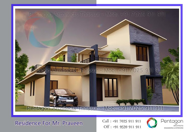 4 bedroom beautiful kerala home design in 1871 sq ft with for Www kerala house plan free