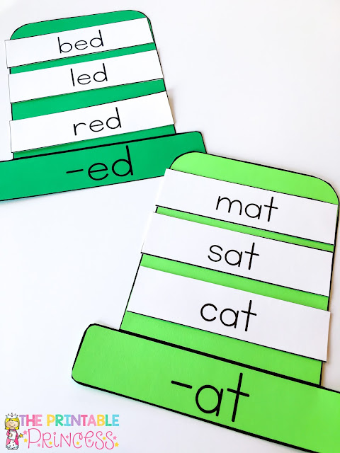 Kindergarten students are going to LOVE these FREE word family hats! When they need to work on CVC words, just grab a quick hat & get started! Students will quickly & easily understand that words go together. This makes the learning process easier for them! This freebie is also great for your preschool or 1st grade students! Print them on green for St. Patrick's Day, orange for Halloween, red for Christmas or Valentine's Day, pastels for Easter, or choose another color for another time of year.